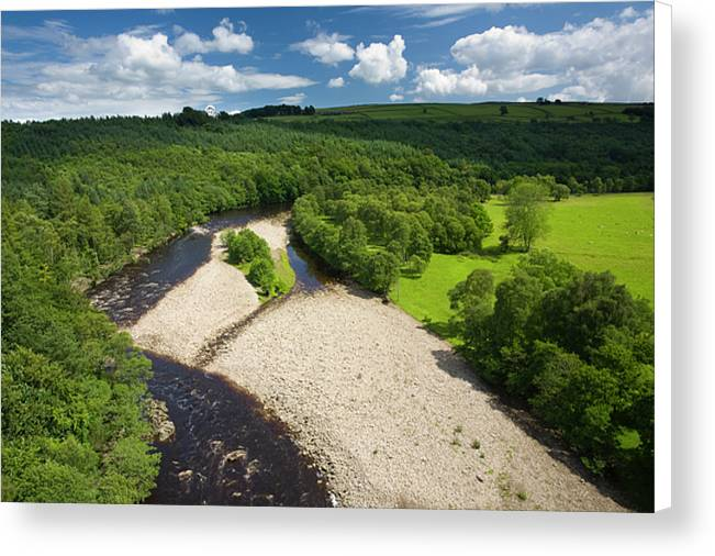 River South Tyne, Northumberland Canvas Print