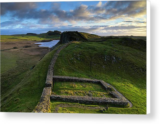 Milecastle 39 & Hadrian's Wall, Northumberland Canvas Print