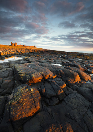 Dunstanburgh Castle, Northumberland, A5 Greeting Card