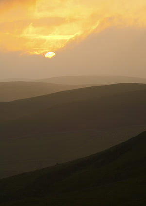 The Cheviot Hills, Northumberland, A5 Greeting Card