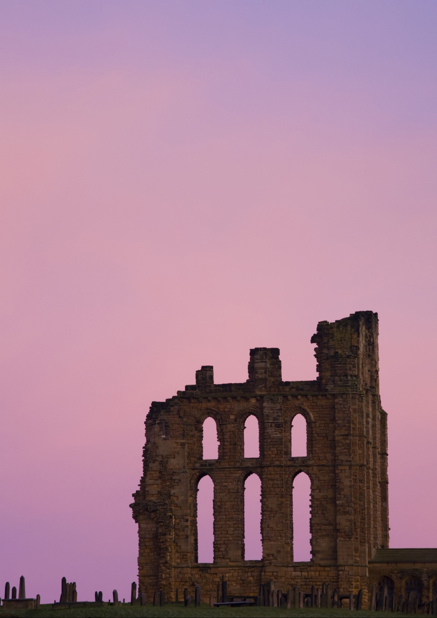 Tynemouth Priory A5 Greeting Card