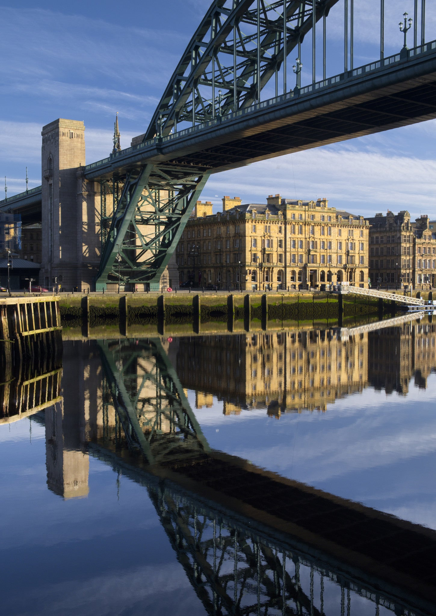 Tyne Bridge and Newcastle Quayside A5 Greeting Card