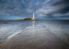 Clearing Storm - St Mary's Lighthouse, Whitley Bay, A5 Greeting Card