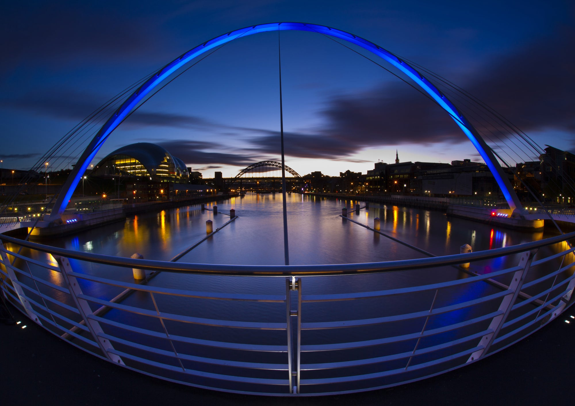 The Gateshead Millennium Bridge and Sage A5 Greeting Card