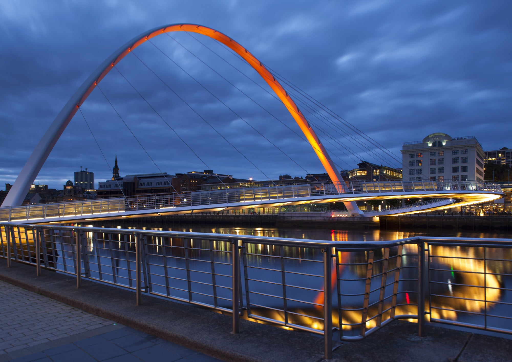 The Gateshead Millennium Bridge A5 Greeting Card
