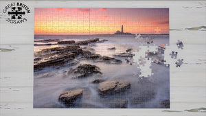 St Mary's Lighthouse, Whitley Bay, 1000 Piece Jigsaw Puzzle