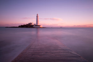 St Mary's Island & Lighthouse, Whitley Bay Canvas Print