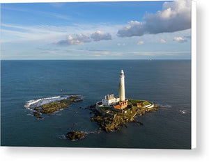 St Mary's Island, Whitley Bay Canvas Print