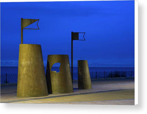 Sand Castles, Whitley Bay Canvas Print