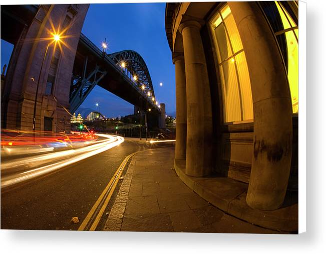 Tyne Bridge & Guildhall, Newcastle Upon Tyne Canvas Print