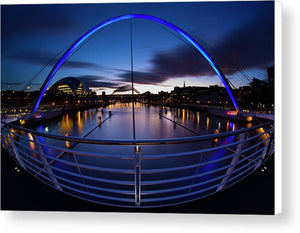 Millennium Bridge, Newcastle Upon Tyne Canvas Print