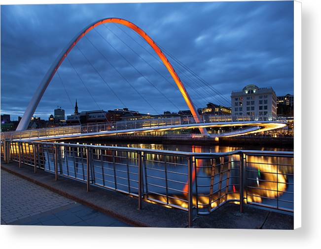The Millennium Bridge, Newcastle Upon Tyne Canvas Print