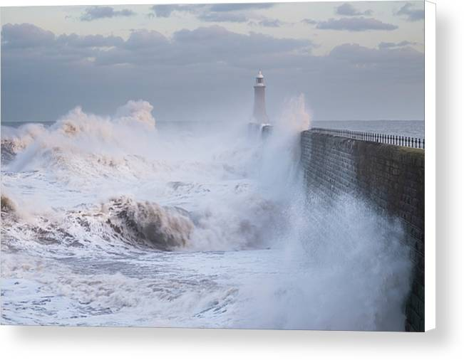 Winter Storm, Tynemouth Canvas Print