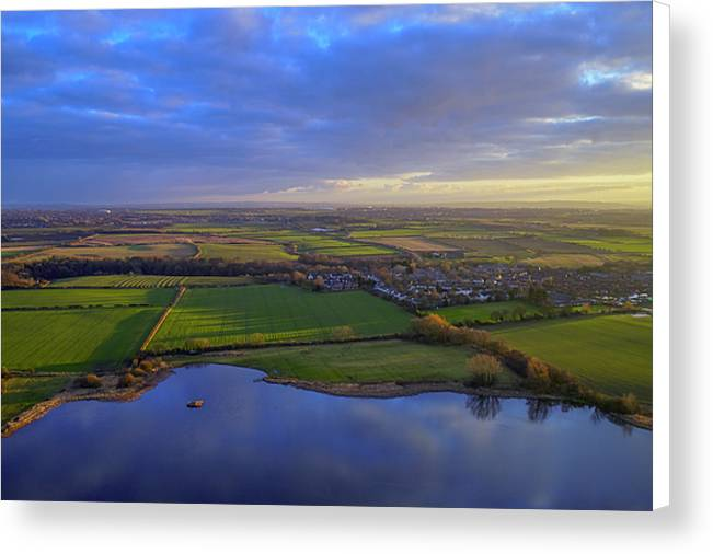 Holywell Pond, Whitley Bay Canvas Print