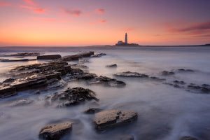Old Hartley Bay, Whitley Bay Canvas Print