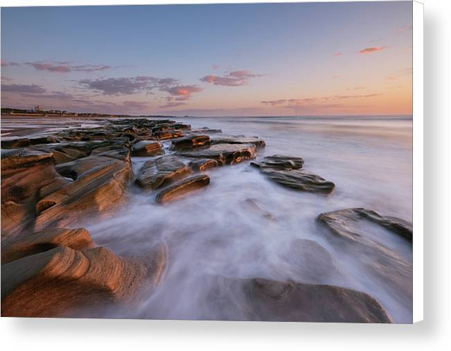 Whitley Sands, Whitley Bay Canvas Print