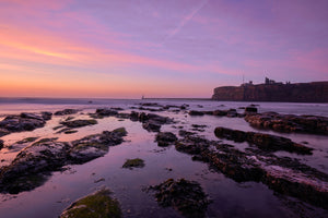 King Edward's Dawn, Tynemouth Canvas Print