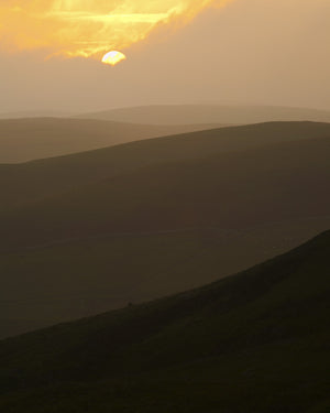 "Cheviot Hills near Murder Cleugh, Northumberland - 8"" x 10"" Mounted Photography Print"
