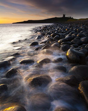 "Embleton Bay & Dunstanburgh Castle, Northumberland - 8"" x 10"" Mounted Photography Print"