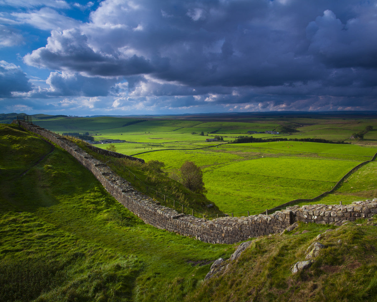 "Hadrian's Wall at Caw Gap., Northumberland - 8"" x 10"" Mounted Photography Print"