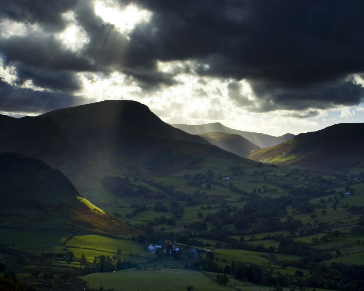 "Newlands Valley, Lake District National Park, Cumbria - 8"" x 10"" Mounted Photography Print"