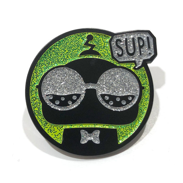 Enamel, lapel, Sup Pin by Casual Mojo - Front