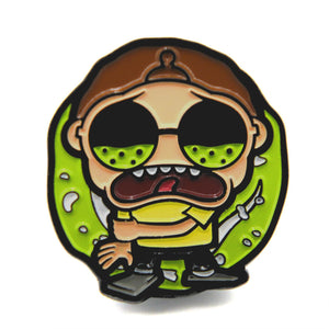 Morty Mojo pin by Casual Mojo, front view.