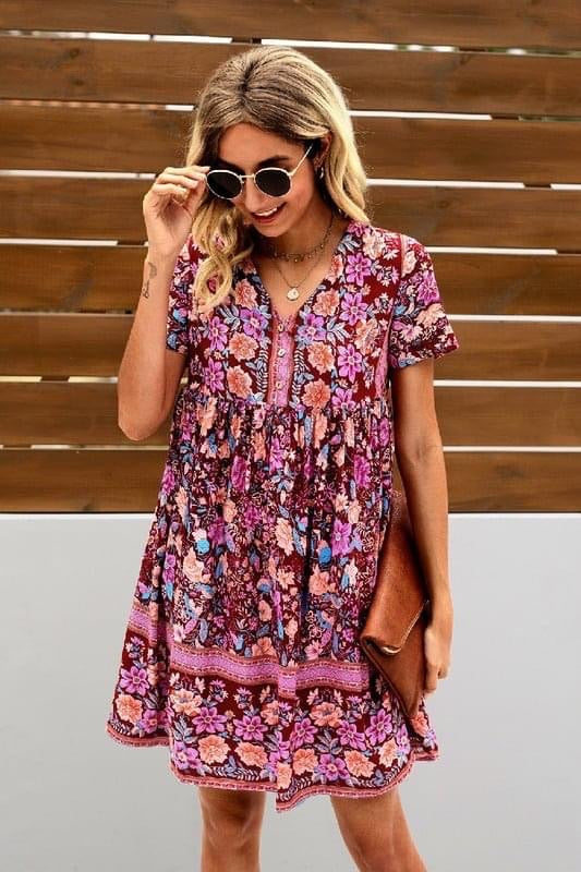 Boho Button Up Dress