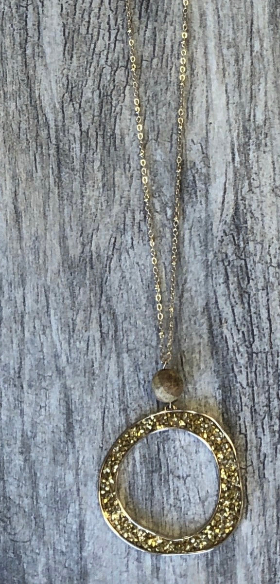 Gold Glitter Necklace