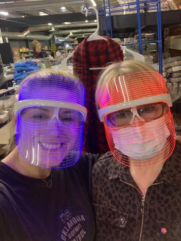 Red/Blue Light therapy mask