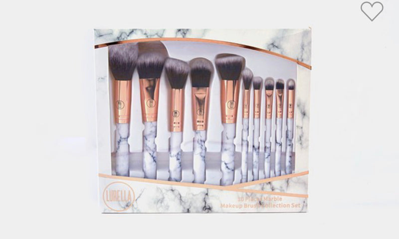 Marble Cosmetic Brush Set