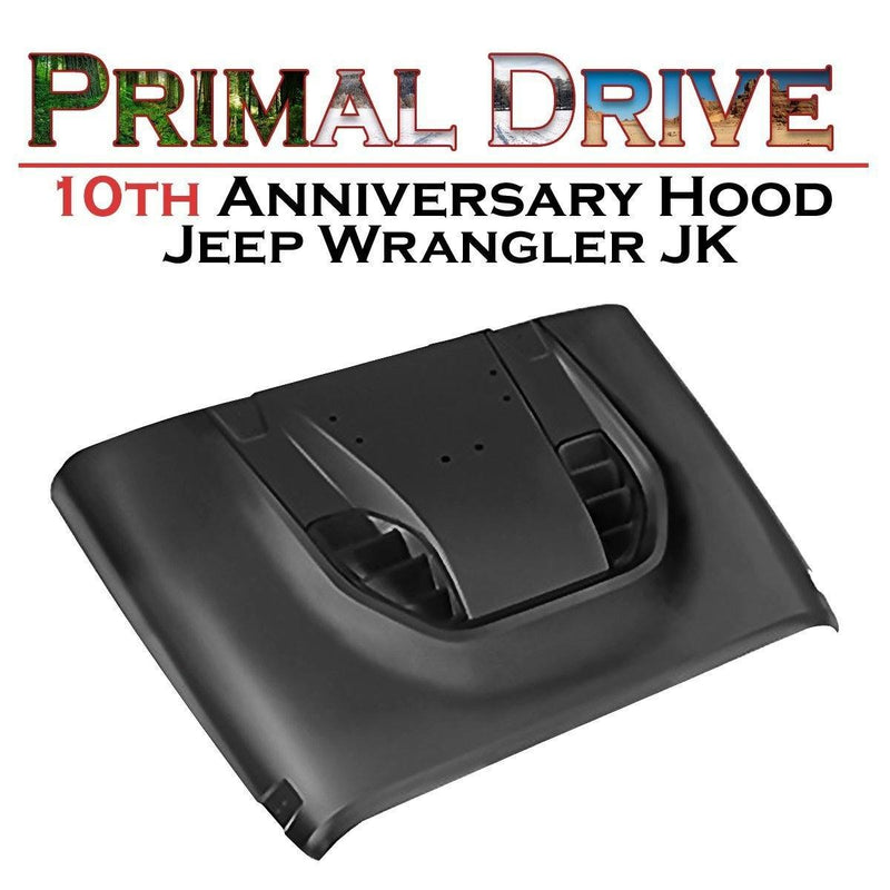Jeep Wrangler Hood - 10th Anniversary for JK - Flat Black