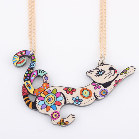 Acrylic Cat Necklace - WeArePretty