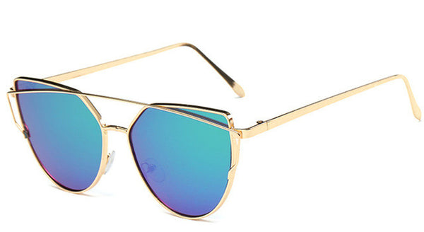 Rose Gold Vintage Fashionable Women Sunglasses with UV400 Lenses