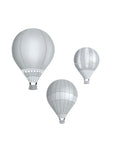 Hot Air Balloons - Grey Set