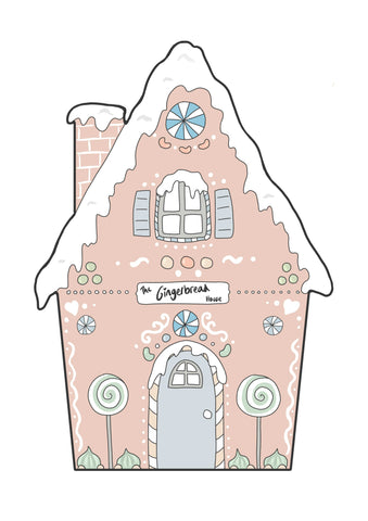 Gingerbread House - Blue