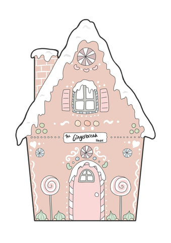 Gingerbread House - Pink