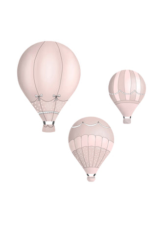 Hot Air Balloons - Dusty Pink Set