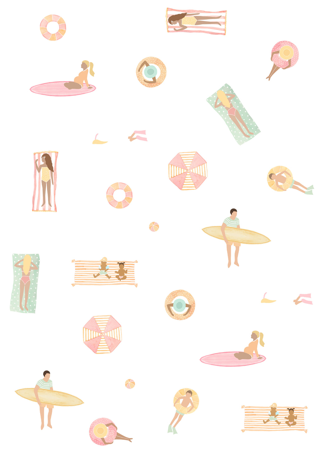 Beach Day Out Wall Stickers