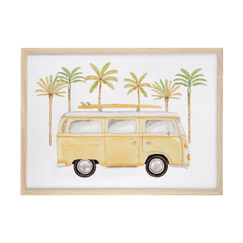 Coast Life Print - Green Palms