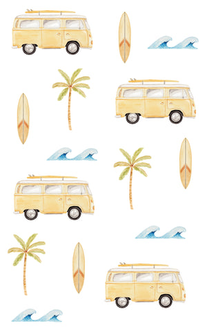 Coast Life Wall Stickers - Mustard