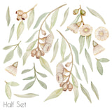 Flowering Gum Tree wall stickers - Beige