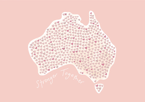 'Stronger Together' PINK Australia Print