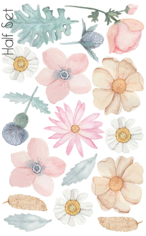 Dusky Bouquet Wall Stickers