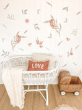 Flowering Gum Tree Wall Stickers - light Pink