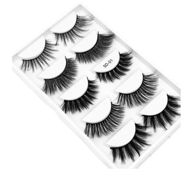 False Eyelashes Set | 5 Pairs