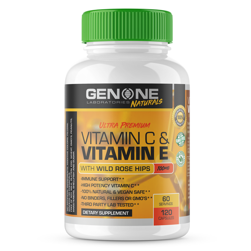 ULTRA PREMIUM VITAMIN C & VITAMIN E WITH WILD ROSE HIPS
