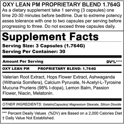 MAX APPETITE SUPPRESSANT + OXY LEAN PM (BUNDLE DEAL)