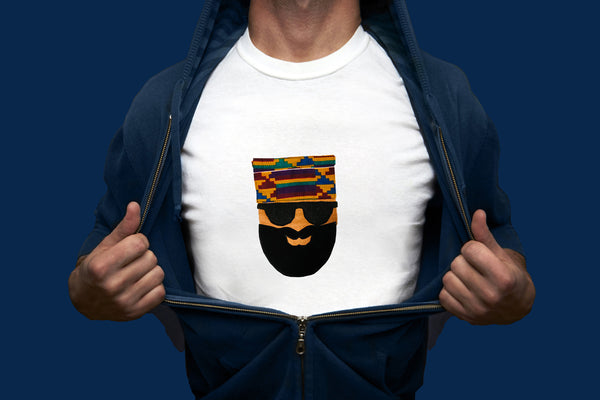 Kente Cap on a Tee - Tribalwest Fashion