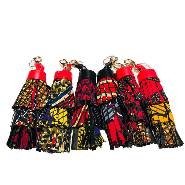 Layered Fringed Ankara Keychain/Accessory - Idong Harrie